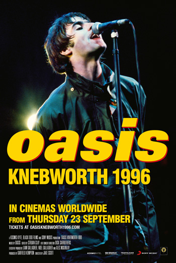 Oasis Knebworth 1996 - in theatres 09/23/2021